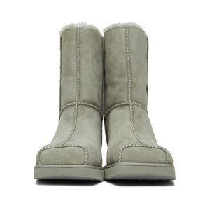 ECKHAUS LATTA UGG GREY Edition Block Boots S12